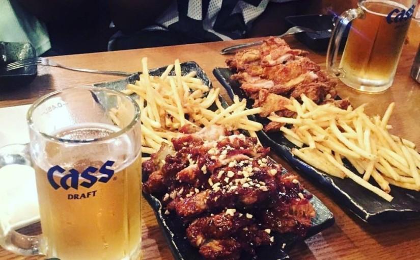 Un week-end sans 치맥 en Corée n'est pas un week-endhahaha